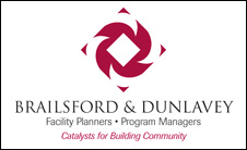 Logo and tagline for Brailsford & Dunlavey, facility planners and program managers